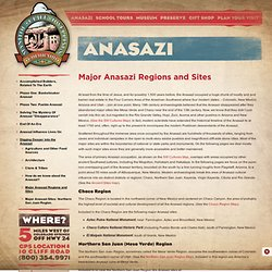 Major Anasazi Regions and Sites