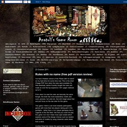 Anatoli's Game Room: Rules with no name (free pdf version review)