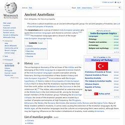 Ancient Anatolians