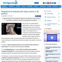 Anatomia del corpo umano 3D su internet - Navigaweb.net