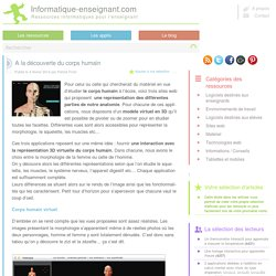 Anatomie du corps humain en 3 applications - Iceweasel