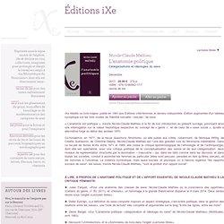 L'anatomie politique | Éditions iXe