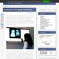 Anatomie d'une page WordPress