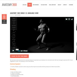 Anatomy 360 Build 1.2 Available now