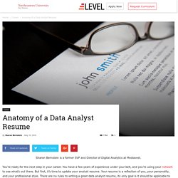 Anatomy of a Data Analyst Resume - Level Blog