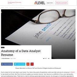 Anatomy of a Data Analyst Resume - Level Blog