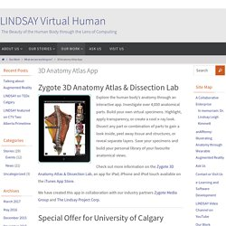 3D Anatomy Atlas App – LINDSAY Virtual Human