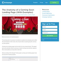 The Anatomy of a Coming Soon Landing Page