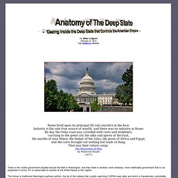 Anatomy of The Deep State - Gazing Inside the Deep State that Controls the American Empire