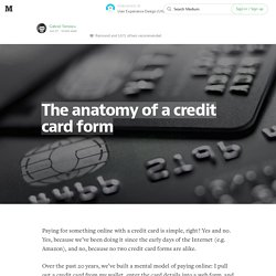 The anatomy of a credit card form — User Experience Design (UX)