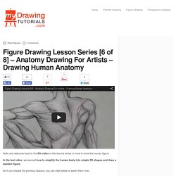 Anatomy Drawing For Artists - Drawing Human Anatomy