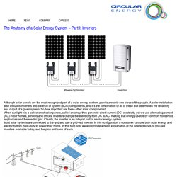 The Anatomy of a Solar Energy System – Part I: Inverters