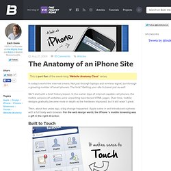 The Anatomy of an iPhone Site