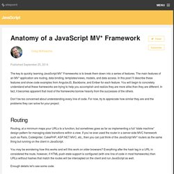 Anatomy of a JavaScript MV* Framework