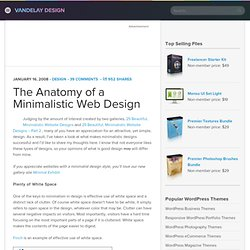 The Anatomy of a Minimalistic Web Design
