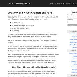 Anatomy of a Novel: Chapters and Parts