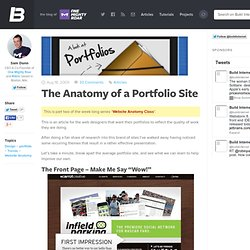 The Anatomy of a Portfolio Site
