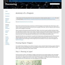 Anatomy of a Program