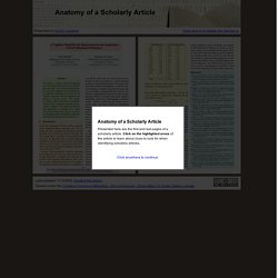 Anatomy of a Scholarly Article: NCSU Libraries