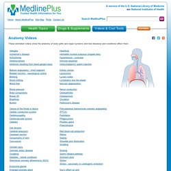 Anatomy Videos: MedlinePlus
