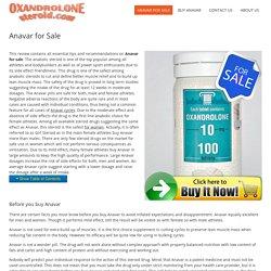 Anavar for Sale - OxandroloneSteroid.com