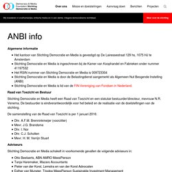 » ANBI info
