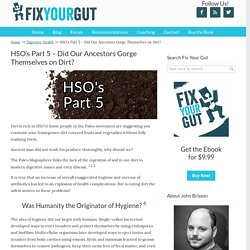 HSO's Part 5 - Did Our Ancestors Gorge Themselves on Dirt?