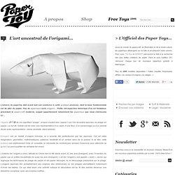 L'art ancestral de l'origami…