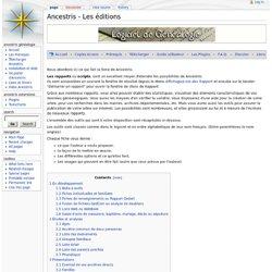 Les éditions - Arvernes Wiki