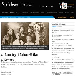 An Ancestry of African-Native Americans- page 1 | History