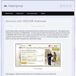Ancestry.com GEDCOM Download