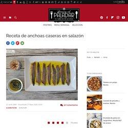Anchoas caseras en salazón. Receta de cocina fácil, sencilla y deliciosa
