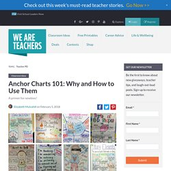 Anchor Charts 101: Why and How to Use Them, Plus 100s of Ideas - WeAreTeachers