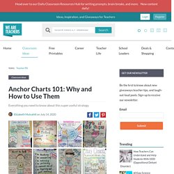 Anchor Charts 101: Why and How to Use Them, Plus 100s of Ideas (WeAreTeachers)