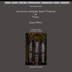 (Vitrail) Vitraux de l'ancienne collégiale Saint-Thiébaut de Thann (Haut-Rhin)