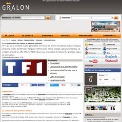 TF1, la plus ancienne des chaînes de télévision françaises