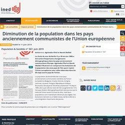 Diminution de la population dans les pays anciennement communistes de l'Union européenne - Espace presse