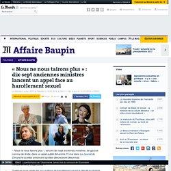 «Nous ne nous tairons plus»: dix-sept anciennes ministres lancent un appel face au harcèlement sexuel