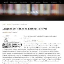 Langues anciennes et méthodes actives – Société des agrégés de l'université