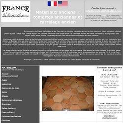 tomettes anciennes en terre cuite et carrelage ancien de récupération, achat / vente en gros