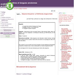 Séquence français 6e : Le Petit Nicolas, images et texte