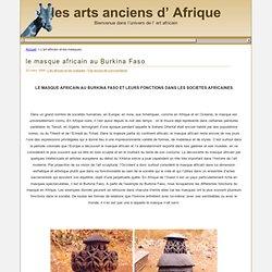 L'art africain & les masques