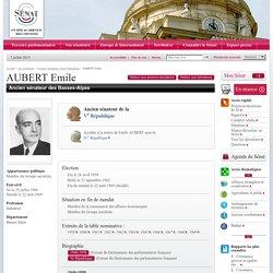 Anciens sénateurs Vème République : AUBERT Emile
