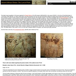 Ancient African History: The Land of Punt