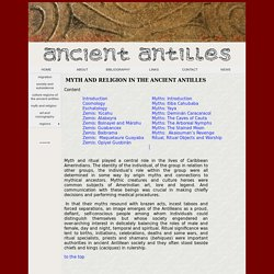 Ancient Antilles- Myth and Religion