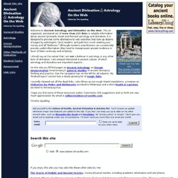 Ancient Astrology and Divination on the Web
