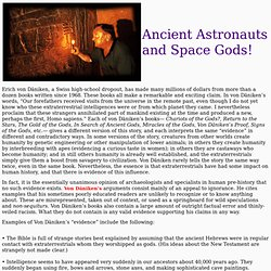 Ancient Astronauts & Space Gods!