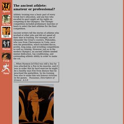 The ancient athlete: amateur or professional?