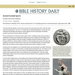 Ancient Combat Sports - Biblical Archaeology Society