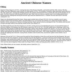 Ancient Chinese Names